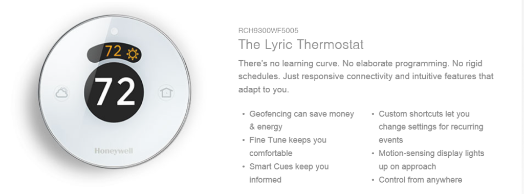 Lyric Digital Thermostat